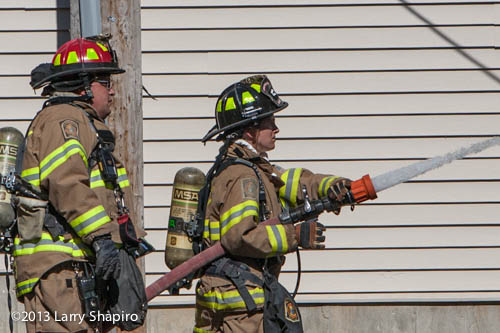 small fire in Barrington damages fence and building