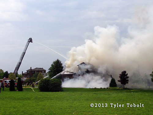 large house burns in South Barrington