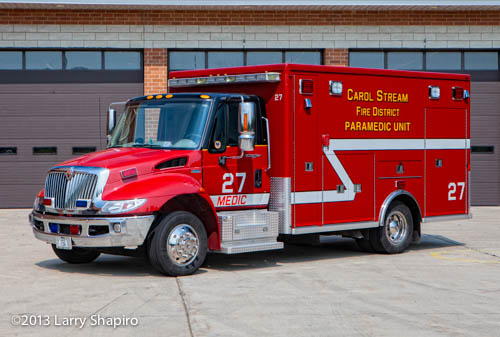 Carol Stream Fire District ambulance 27
