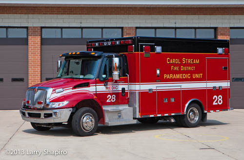 Carol Stream Fire District ambulance 28