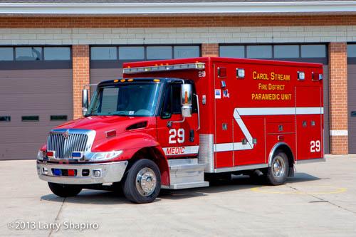 Carol Stream Fire District ambulance 29