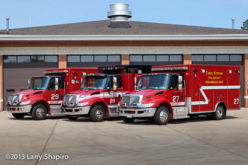 Carol Stream Fire District ambulances