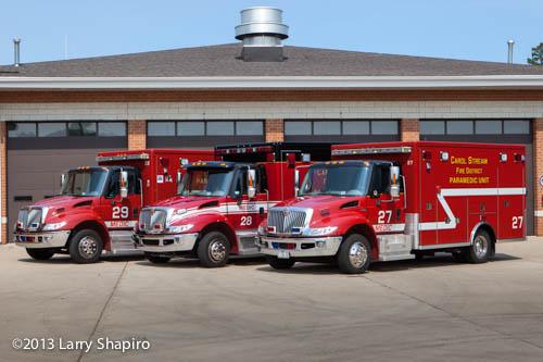 Carol Stream Fire District ambulances