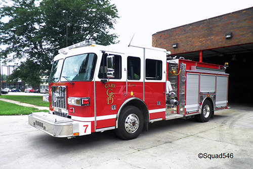 Gary Fire Department fire truck
