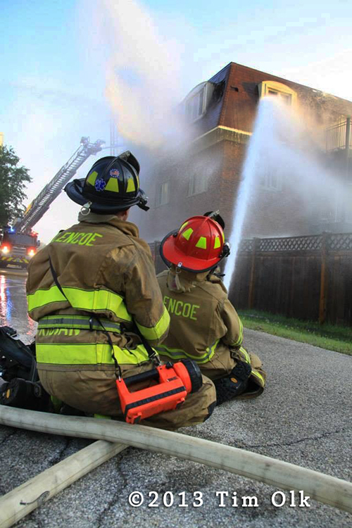 2nd Alarm building fire in Northbrook