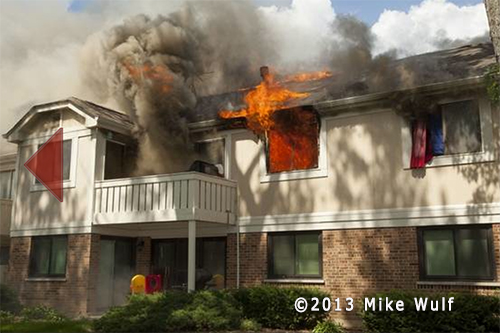 townhouse fire in Schaumburg