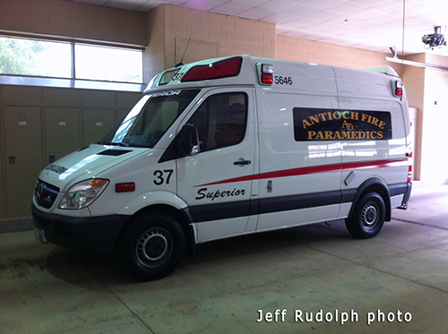 Antioch Fire Department to provide EMS