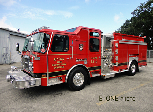 Union FIre Protection District fire engine