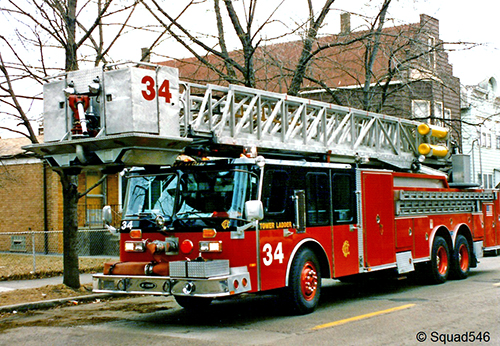 Chicago Fire Department tower ladder