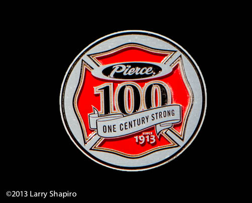 Pierce Manufacturing 100 year anniversary medallion