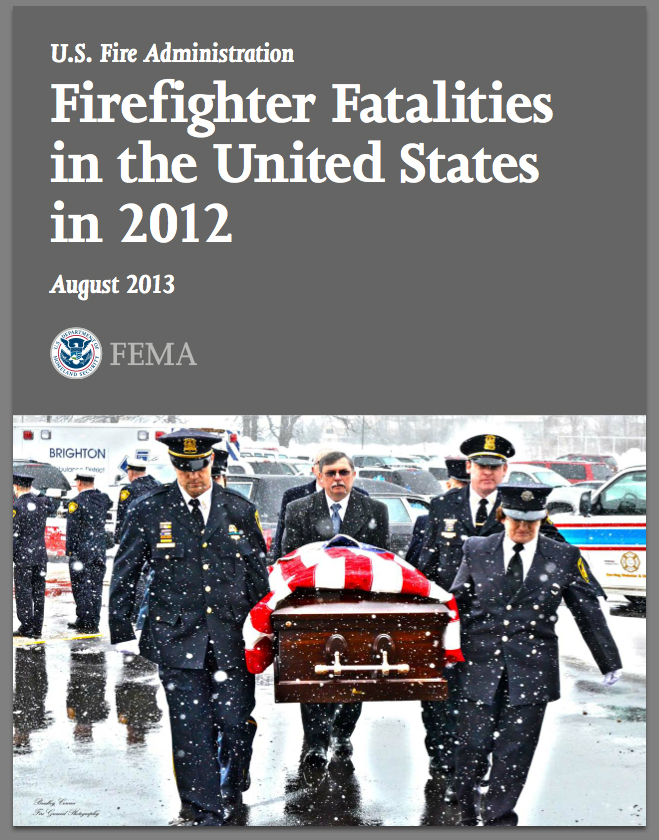 2012 report on firefighter fatalities in the US
