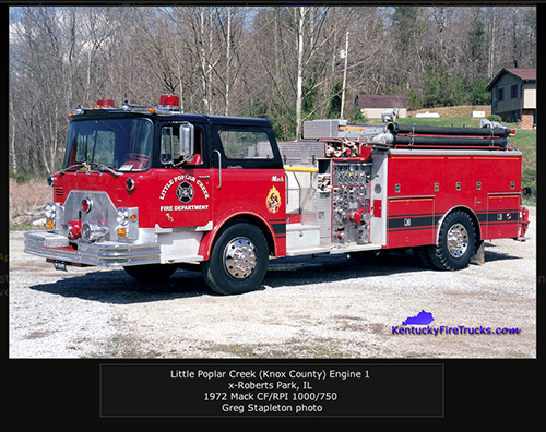 Little Poplar Creek FD fire engine