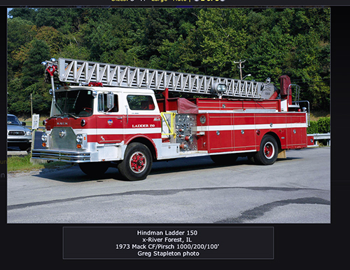 Hindman FIre Department fire truck