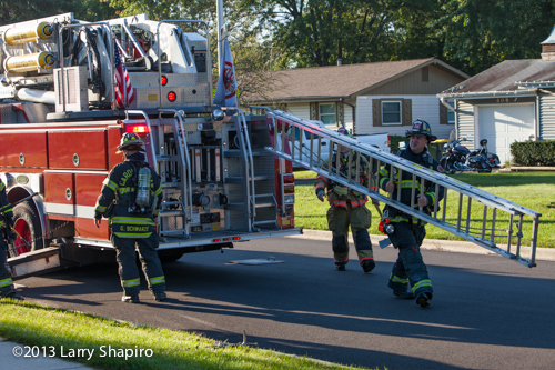 Carol Stream Fire District at fire scene