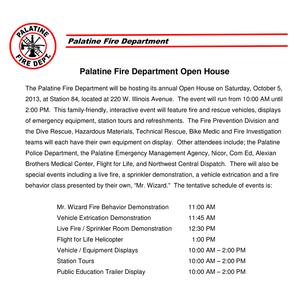 Palatine Fire Department open house