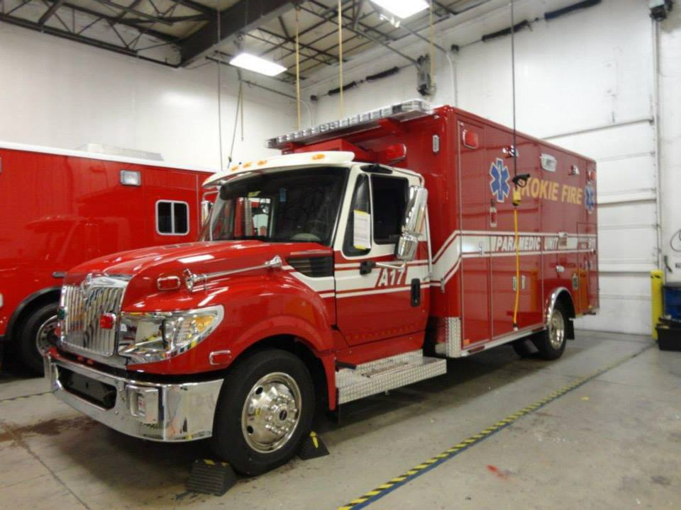 new ambulance for the Skokie Fire Department
