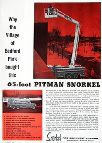 vintage magazine ad for the first Pitman Snorkel unit