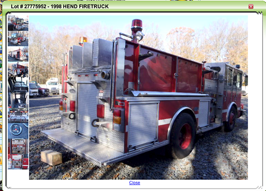 former Chicago fire engine for sale