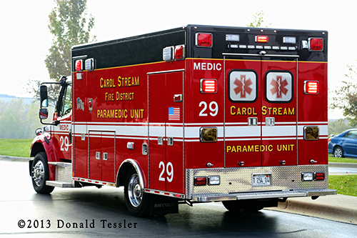 Carol Stream Fire District ambulance