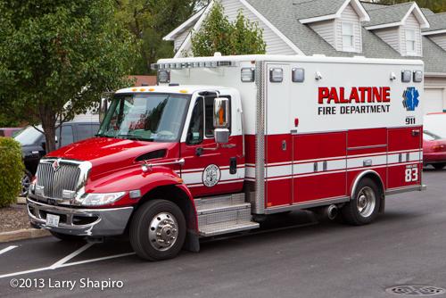 Palatine Fire Department ambulance