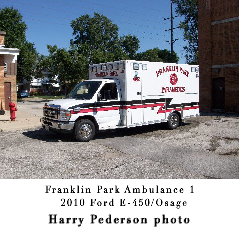 Franklin Park Fire Department ambulance
