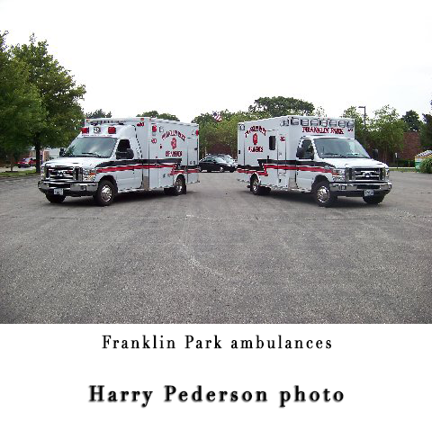 Franklin Park Fire Department ambulances