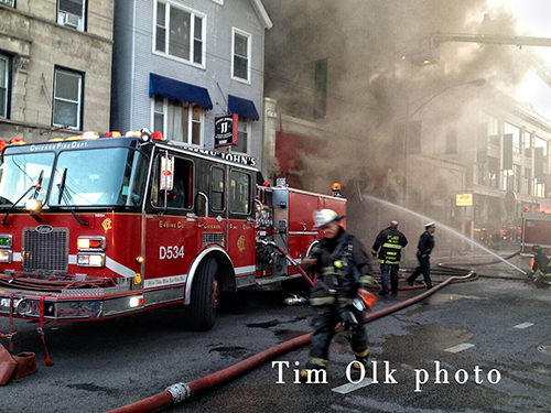 Chicago Fire Department extra alarm fire on North Clark Street
