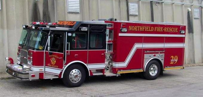new fire engine for the Northfield fire Rescue Department