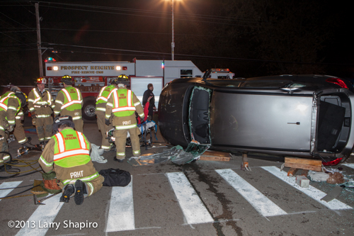 rollover accident in Prospect Heights 11-7-13