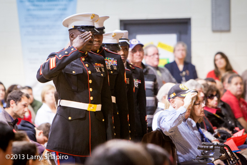 US Marines at Veteran's Day event