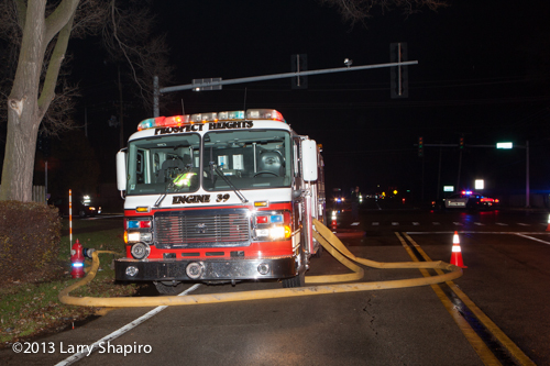 Prospect Heights Fire Department fights house fire at 415 Cherry Creek Lane 11-21-13