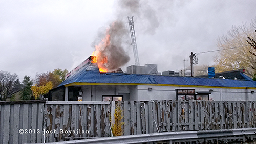 Berwyn firefighters battle Burger King restaurant fire