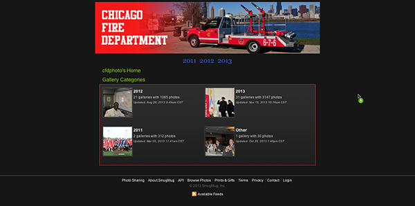 Chicago Fire Department photo unit web site