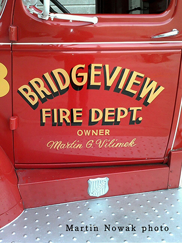 Bridgeview Fire Department antique fire engine