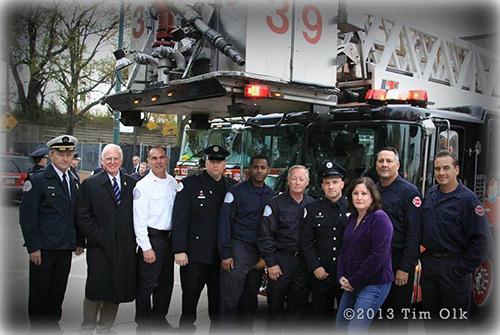 Chicago firefighters and friends