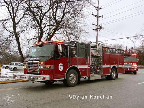 Matteson Fire Department fire engine