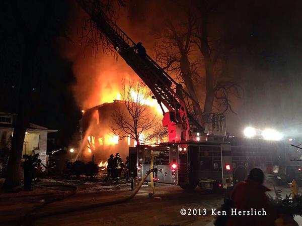 Maywood 2nd alarm fire, 12-23-13