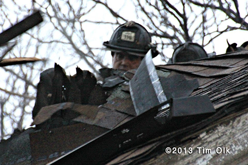 Chicago fireman on roof