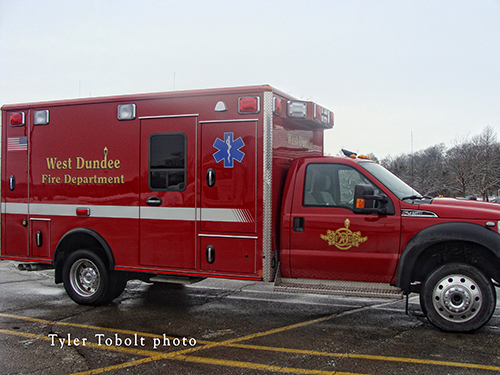West Dundee Fire Department ambulance