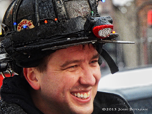 Chicago fireman closeup