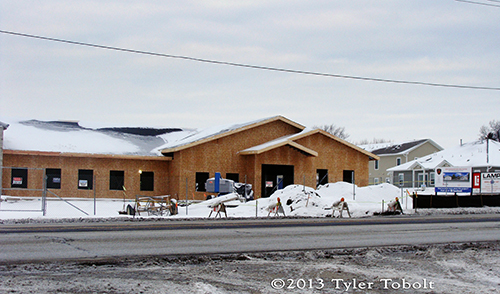 New fire station under construction for the East Dundee Fire Protection District. Tyler Tobolt photo