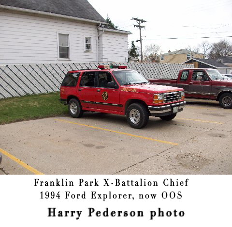 Franklin Park Fire Department apparatus