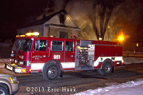 Central Stickney FPD battles winter house fire