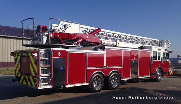 Palatine Fire Department gets new tower ladder