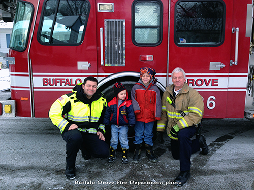 Buffalo Grove Fire Department takes child to school