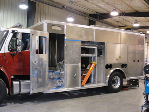 fire engine being built for the Prospect Heights FPD