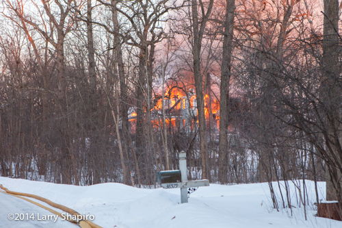 large Wadsworth IL house destroyed by fire
