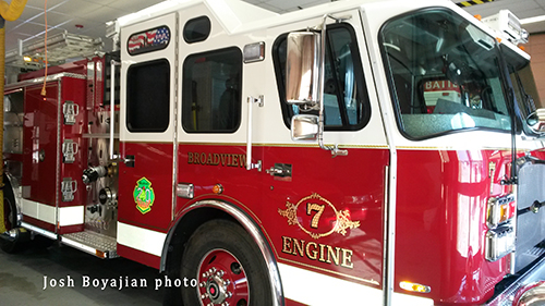 new fire engine for Broadview FD