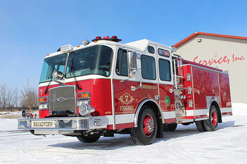 A new fire engine for the Broadview FD.