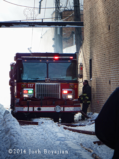 Chicago firemen battle frigid 3-11 alarm warehouse fire 1-3-14.